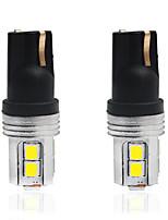 Недорогие -2pcs T10 Автомобиль Лампы 5 W SMD 2835 350 lm 10 Светодиодная лампа Подсветка для номерного знака / Задний свет / Внутреннее освещение Назначение Универсальный Все года