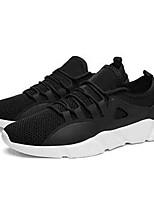 Недорогие -Универсальные Комфортная обувь Эластичная ткань Весна лето Кеды Дышащий Черный / Черно-белый