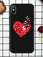 Недорогие -Кейс для Назначение Apple iPhone XR / iPhone XS Max С узором Кейс на заднюю панель С сердцем Мягкий ТПУ для iPhone XS / iPhone XR / iPhone XS Max