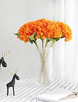 Недорогие -Искусственные Цветы 2 Филиал Классический Традиционный / классический европейский Гортензии Вечные цветы Букеты на стол