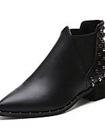 Недорогие -Жен. Полиуретан Наступила зима Ботинки На толстом каблуке Ботинки Черный