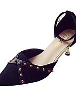 Недорогие -Жен. Полиуретан Весна На каждый день Обувь на каблуках На каблуке-рюмочке Заостренный носок Черный / Красный