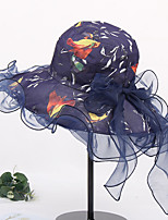 Недорогие -Жен. Активный / Классический / Симпатичные Стиль Соломенная шляпа Однотонный