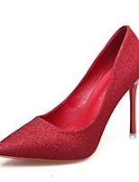 Недорогие -Жен. Искусственная кожа Весна & осень Обувь на каблуках Для прогулок На шпильке Заостренный носок Черный / Серебряный / Красный / Свадьба