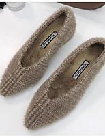 Недорогие -Жен. Замша Наступила зима Обувь на каблуках На толстом каблуке Серый / Хаки