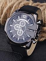 Недорогие -Муж. Спортивные часы Японский Кварцевый Кожа Черный / Синий / Коричневый Повседневные часы Аналого-цифровые На каждый день - Коричневый Синий Черно-белый / Нержавеющая сталь
