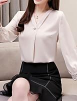 Недорогие -Жен. Блуза Деловые / Уличный стиль Однотонный