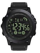 Недорогие -Spovan Муж. Спортивные часы электронные часы Цифровой Черный 50 m Защита от влаги Bluetooth Календарь Цифровой Мода - Черный Один год Срок службы батареи / Хронометр