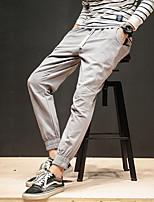 Недорогие -Муж. Гарем Сплетенные брюки Военно-зеленный Хаки Темно-синий Виды спорта Сплошной цвет Брюки Нижняя часть Спорт в свободное время Бег Фитнес Большие размеры Спортивная одежда Легкость Быстровысыхающий
