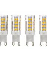 Недорогие -4шт g9 3 Вт 280LM светодиодные лампы (40 Вт галогеновый эквивалент) теплый белый 3000 К g9 bi-pin база светодиодные лампочки для люстры дома 85-265 В