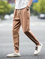 Недорогие -Муж. Гарем Сплетенные брюки Зеленый Серый Хаки Виды спорта Сплошной цвет Брюки Нижняя часть Тренировка в тренажерном зале Большие размеры Спортивная одежда Легкость Быстровысыхающий Неэластичная