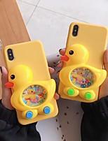 Недорогие -Кейс для Назначение Apple iPhone XS Max / iPhone 6 Игровой случай Кейс на заднюю панель / Чехол Животное Мягкий силикагель для iPhone XS / iPhone XR / iPhone XS Max