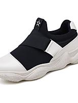 Недорогие -Муж. Комфортная обувь Полиуретан Весна На каждый день Мокасины и Свитер Нескользкий Контрастных цветов Белый / Черный