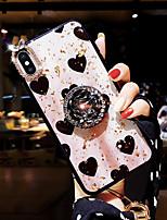Недорогие -Кейс для Назначение Apple iPhone X / iPhone 8 / iPhone 8 Plus Стразы / С узором Кейс на заднюю панель С сердцем Твердый Акрил для iPhone XS / iPhone XR / iPhone XS Max