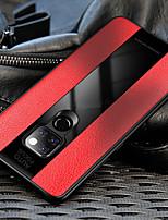 Недорогие -Кейс для Назначение Huawei Huawei Mate 20 Pro / Huawei Mate 20 Защита от удара / Зеркальная поверхность Кейс на заднюю панель Однотонный Твердый Кожа PU / Закаленное стекло для Mate 10 / Mate 10 pro