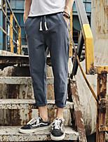 Недорогие -Муж. Гарем Брюки-штаны Темно-синий Светло-серый Хаки Виды спорта Сплошной цвет Брюки Нижняя часть Бег Большие размеры Спортивная одежда Легкость Дышащий Быстровысыхающий Слабоэластичная