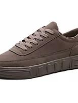 Недорогие -Муж. Комфортная обувь Полиуретан Весна Кеды Черный / Серый / Коричневый