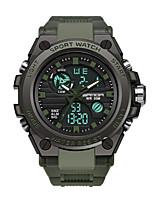 Недорогие -Муж. Спортивные часы Цифровой Черный / Цвет клевера Защита от влаги Календарь Секундомер Аналого-цифровые На каждый день Мода - Серебряный Зеленый Синий
