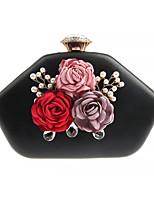 Недорогие -Жен. Мешки PU Вечерняя сумочка Аппликации / Цветы Цветочный принт Черный / Красный / Пурпурный