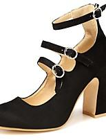 Недорогие -Жен. Полиуретан Весна & осень Обувь на каблуках На толстом каблуке Черный / Красный