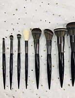 Недорогие -9pcs Кисти для макияжа профессиональный Косметическая кисточка Мягкость / синтетический Пластик
