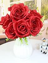 Недорогие -Искусственные Цветы 1 Филиал Классический Односпальный комплект (Ш 150 x Д 200 см) Сценический реквизит Пастораль Стиль Розы Букеты на стол