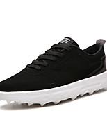 Недорогие -Муж. Комфортная обувь Полиуретан Весна На каждый день Кеды Нескользкий Контрастных цветов Черный / Серый / Черно-белый