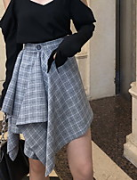 Недорогие -женская юбка выше колена - плед
