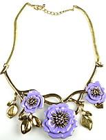 Недорогие -Жен. европейский / Мода / Крупногабаритные ожерелья - Пайетки Цветочный принт Тропический лист