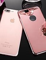 Недорогие -Кейс для Назначение Apple iPhone XS Max / iPhone 6 Покрытие Кейс на заднюю панель Однотонный Твердый пластик для iPhone XS / iPhone XR / iPhone XS Max