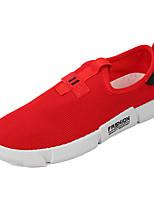 Недорогие -Муж. Комфортная обувь Эластичная ткань Лето На каждый день Мокасины и Свитер Дышащий Красный / Черный / Красный / Черный / Желтый