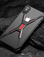 Недорогие -Кейс для Назначение Apple iPhone XS Max / iPhone 6 Защита от удара Кейс на заднюю панель Однотонный Твердый Алюминий для iPhone XS / iPhone XR / iPhone XS Max