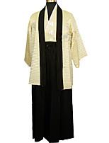 Недорогие -Взрослые Муж. Кимоно Инвентарь Кимоно Назначение Halloween На каждый день фестиваль Хлопко-льняная смешанная ткань Кофты кимоно Пальто Пояс на талию