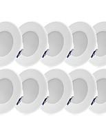 Недорогие -YouOKLight 10 шт. 3 W 240 lm 8 Светодиодные бусины Встроенные LED даунлайт Холодный белый 85-265 V