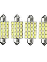 Недорогие -4шт Автомобиль Лампы 3 W SMD 3014 10~12 lm 48 Светодиодная лампа Внутреннее освещение Назначение Все года