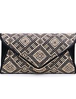 Недорогие -Жен. Мешки Белье Вечерняя сумочка Геометрический рисунок Черный