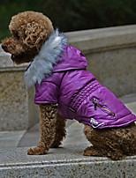 Недорогие -Собаки Плащи Одежда для собак Однотонный Красный Зеленый Синий Терилен Костюм Назначение Корги Гончая Бульдог Осень Зима Женский На каждый день Наколенники