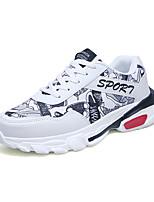Недорогие -Муж. Комфортная обувь Синтетика Наступила зима На каждый день Кеды Белый / Черный / Красный
