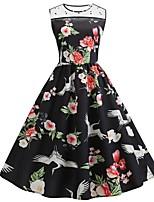 Недорогие -женское платье длиной до колена в линию красное черное s m l xl