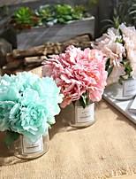Недорогие -Искусственные Цветы 1 Филиал Классический европейский Свадебные цветы Пионы Вечные цветы Букеты на стол
