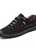 Недорогие -Муж. Комфортная обувь Полиуретан Весна На каждый день Кеды Нескользкий Черный / Желтый / Хаки