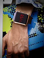 Недорогие -Муж. Наручные часы Цифровой силиконовый Черный Защита от влаги ЖК экран Цифровой Мода Цветной - Серебряный Лиловый Розовое золото