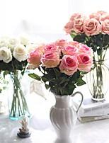 Недорогие -Искусственные Цветы 5 Филиал Классический европейский Свадебные цветы Розы Вечные цветы Букеты на стол