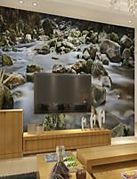 Недорогие -обои / фреска холст Облицовка стен - Клей требуется Ар деко / 3D / Камень