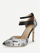 Недорогие -Жен. Полиуретан Лето Винтаж / На каждый день Обувь на каблуках На шпильке Заостренный носок Белый / Желтый