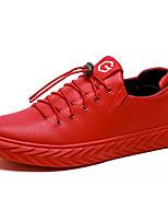 Недорогие -Муж. Комфортная обувь Полиуретан Весна Кеды Черный / Красный