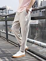 Недорогие -Муж. Гарем Сплетенные брюки Зеленый Серый Хаки Виды спорта Сплошной цвет Штаны Тренировка в тренажерном зале Большие размеры Спортивная одежда Легкость Быстровысыхающий Слабоэластичная