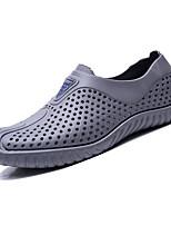 Недорогие -Муж. Комфортная обувь Этиленвинилацетат Лето На каждый день Мокасины и Свитер Нескользкий Белый / Черный / Серый