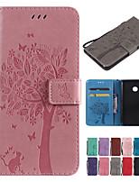 Недорогие -Кейс для Назначение Sony Sony Xperia L3 / Sony Xperia 10 / Sony Xperia 10 Plus Кошелек / Бумажник для карт / со стендом Чехол Однотонный / Кот / дерево Твердый Кожа PU