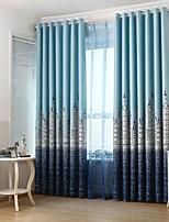 Недорогие -европейский Конфиденциальность 1 панель Занавес Гостиная   Curtains